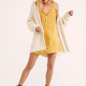 Free People Dreaming of You Slip Gold Dress S NEW